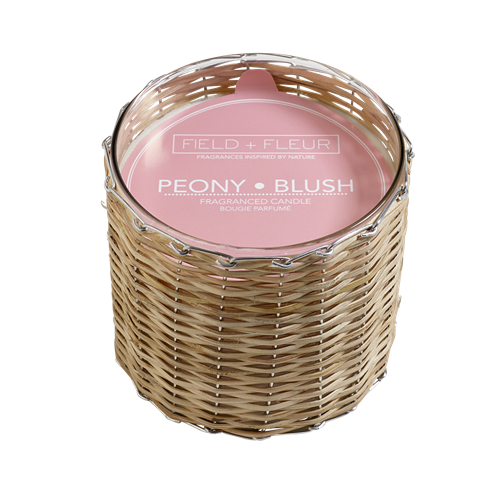 Hillhouse Naturals Peony Blush 2-Wick Woven Candle