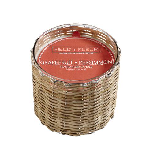 Hillhouse Naturals Grapefruit Persimmon 2-Wick Woven Candle