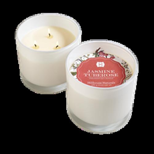 Hillhouse Naturals Jasmine Tuberose 3-Wick Glass Candle