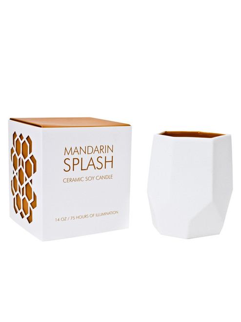 D.L & Co. Mandarin Splash 14 oz. Abstract Candle