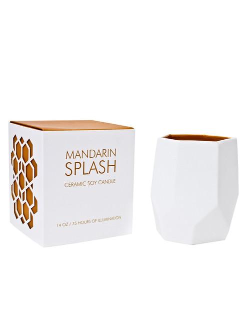 D.L & Co. Mandarin Splash 14 oz. Abstract Candle