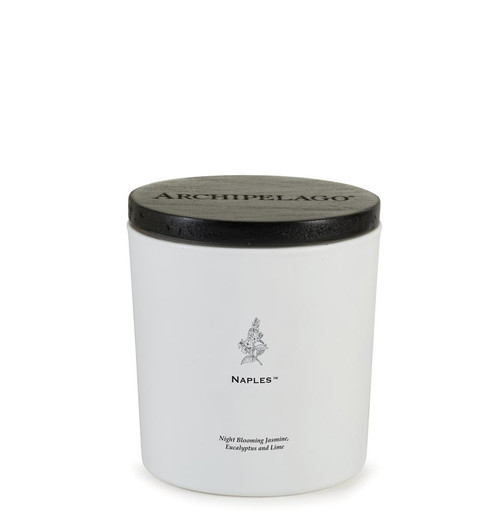 Archipelago Naples Coastal Luxe Collection Candle With Wood Lid