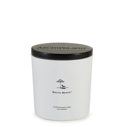 Archipelago South Beach Coastal Luxe Collection Candle With Wood Lid