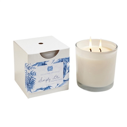 Manufacturer's Description: Simply Blu is our fragrant interpretation of everyone's favorite color.  Cool notes of lily of the valley, cyclamen, and sweet musk that is sure to be a favorite. Burn time 40+ hours.  Made in the USA  Net Wt.: 12 oz.  Fragrance Notes: lily of the valley, cyclamen, and sweet musk  Fragrance Family: cool