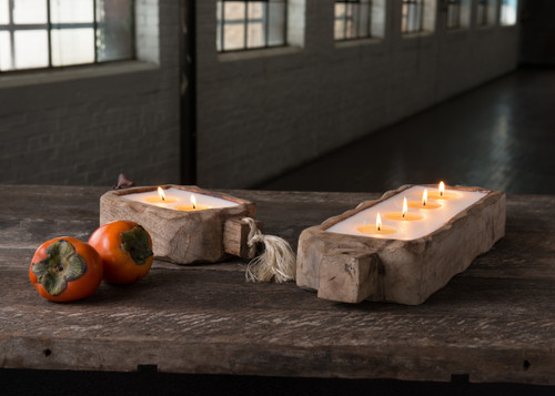 Himalayan Trading Post 44oz Grapefruit Pine Driftwood Candle Tray