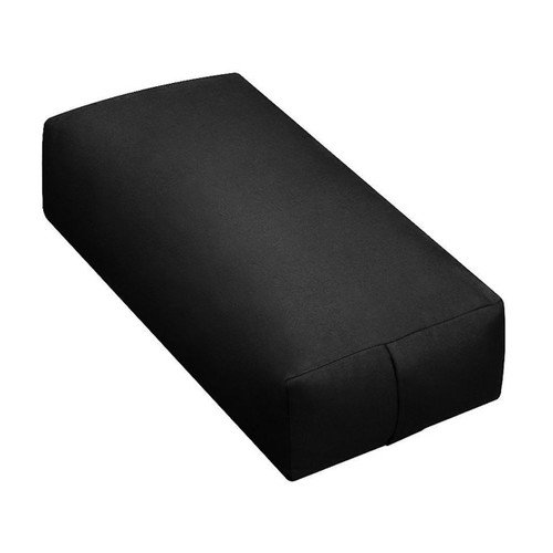 Yoga Supportive Rectangular Black Duck Canvas Meditation Bolster