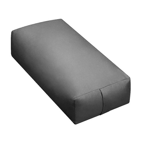 Yoga Supportive Rectangular Grey Duck Canvas Meditation Bolster