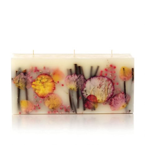 Rosy Rings Signature Collection Brick Botanical Candle – Apricot Rose