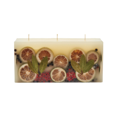 Rosy Rings Signature Collection Brick Botanical Candle – Bay Garland