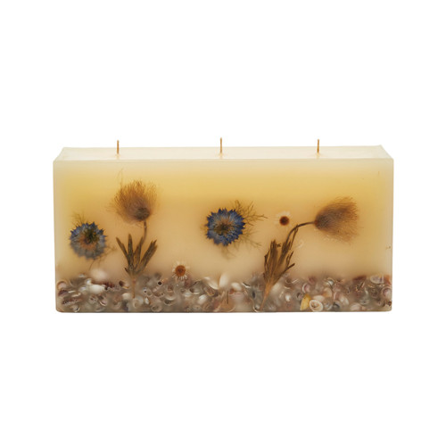 Rosy Rings Signature Collection Brick Botanical Candle – Beach Daisy