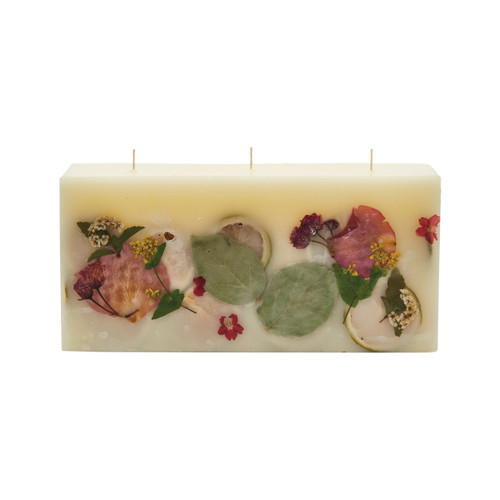 Rosy Rings Signature Collection Brick Botanical Candle – Lemon Blossom & Lychee