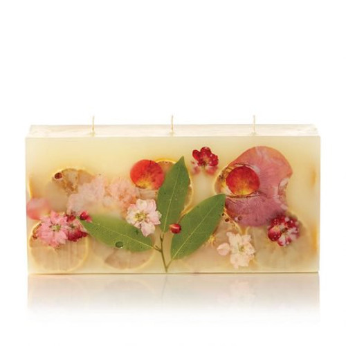 Rosy Rings Signature Collection Brick Botanical Candle – Peony & Pomelo