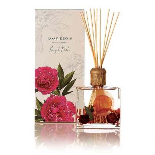 Rosy Rings Signature Collection Peony & Pomelo Botanical Reed Diffuser