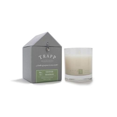 No. 73 Trapp Signature Candle Vetiver Seagrass - 7oz. Poured Candle