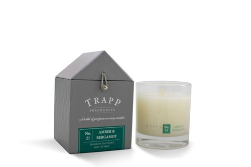 No. 21 Trapp Candles Amber & Bergamot - 7oz. Poured Candle
