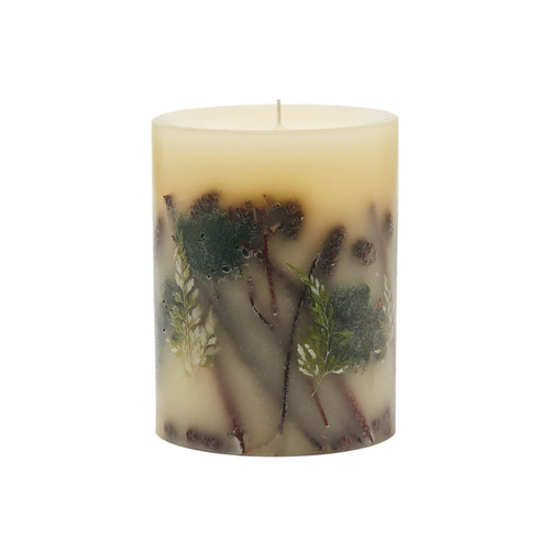 "Rosy Rings Signature Collection Forest Botanical 5""x 6.5"" Pillar Candle"