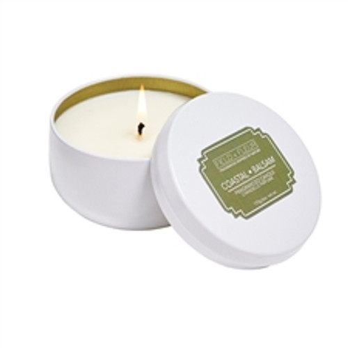 Hillhouse Naturals Field + Fleur Coastal Balsam Candle In White Tin 6oz