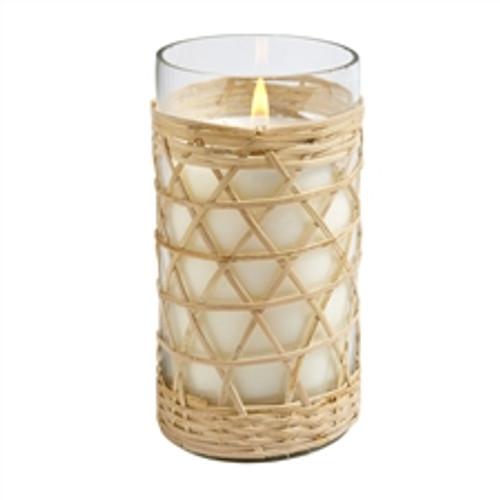 Hillhouse Naturals Field + Fleur Salt & Sea Bamboo Glass Candle 8oz