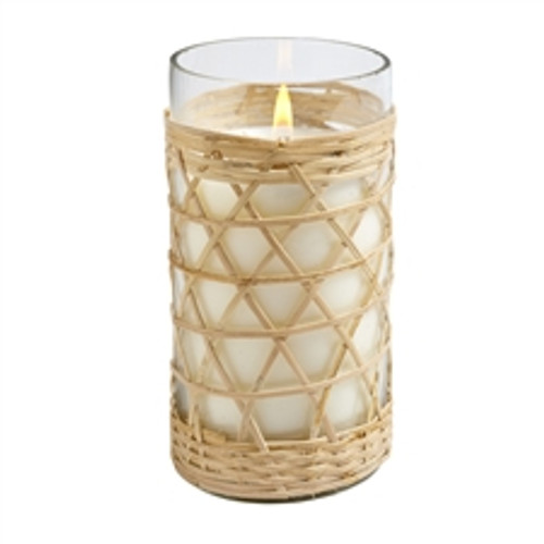 Hillhouse Naturals Field + Fleur Salt & Sea Bamboo Glass Candle 8oz