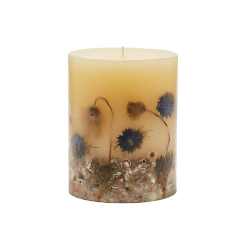 "Rosy Rings Signature Collection Beach Daisy Botanical 5""x 6.5"" Pillar Candle"