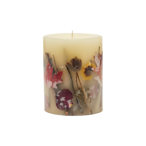 """Rosy Rings Signature Collection Pumpkin Cardamom Botanical 4.5"""" x 5.5"""" Pillar Candle"""