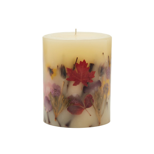 "Rosy Rings Signature Collection Pumpkin Cardamom Botanical 5"" x 6.5"" Pillar Candle"