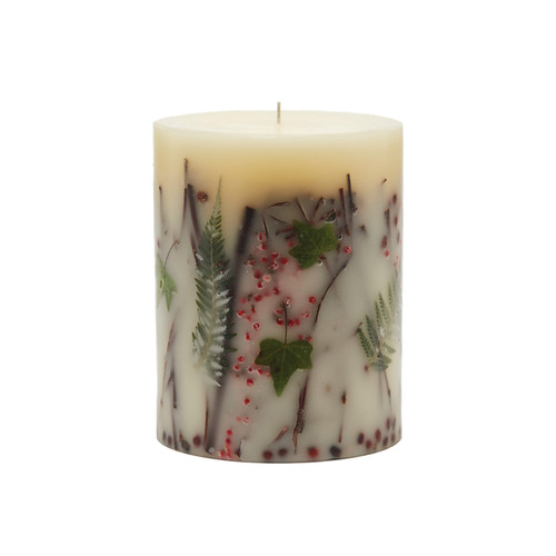 "Rosy Rings Signature Collection Red Currant & Cranberry Botanical 5"" x 6.5""Pillar Candle"