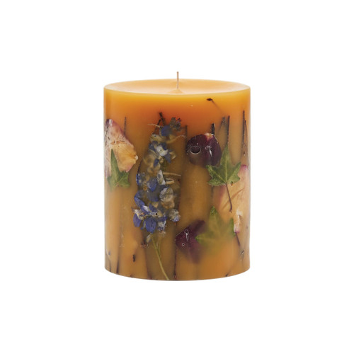 """Rosy Rings Signature Collection Wild Plum & Cannabis Botanical 4.5"""" x 5.5""""Pillar Candle"""