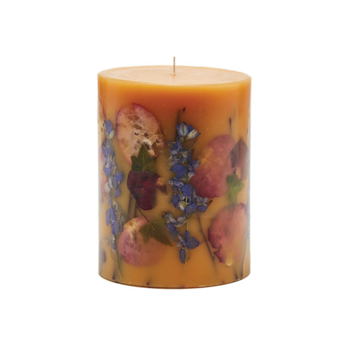 "Rosy Rings Signature Collection Wild Plum & Cannabis Botanical 5"" x 6.5""Pillar Candle"