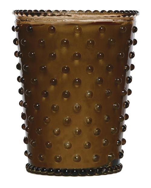 Simpatico No. 86 Cocoa Almond Hobnail Glass Candle