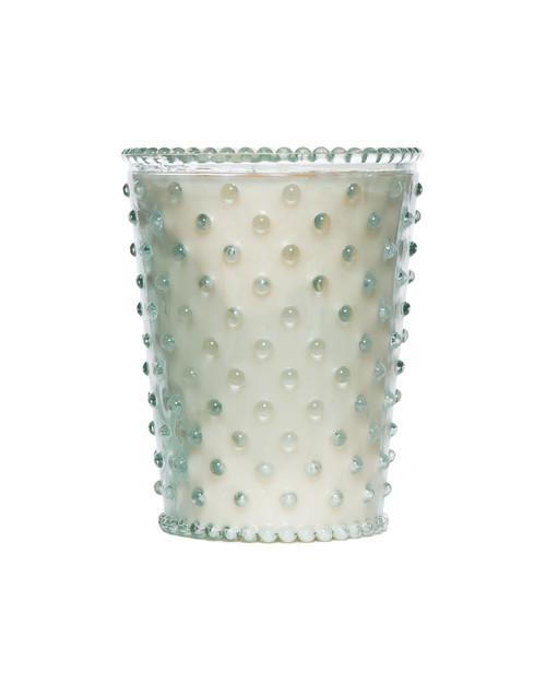 Simpatico No. 96 Creme Fraiche Hobnail Glass Candle