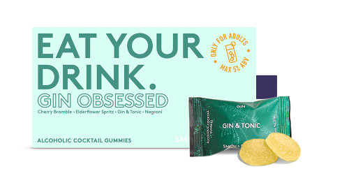 Smith & Sinclair Gin Obsessed Alcoholic Cocktail Gummies