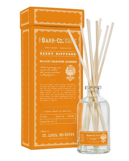 Barr-Co. Blood Orange Amber Scent Diffuser Kit