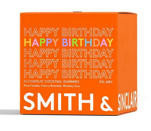 Smith & Sinclair Happy Birthday MINI Alcoholic Gummies