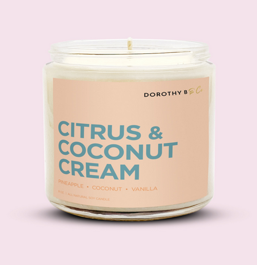 Dorothy B & Co Signature Citrus & Coconut Cream Candle