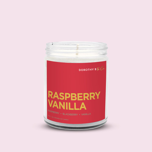 Dorothy B & Co Signature Raspberry Vanilla Candle
