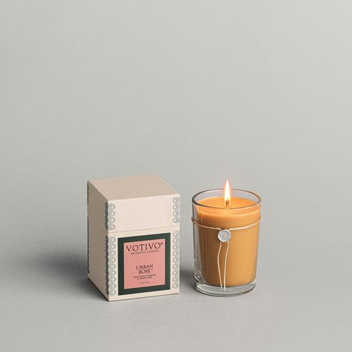 Votivo Aromatic Collection Urban Rose Boxed Candle