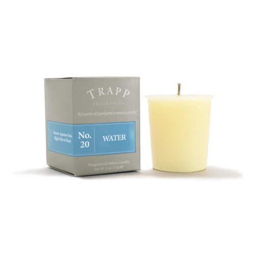 No.20 Trapp Candle Water - 2oz. Votive Candle