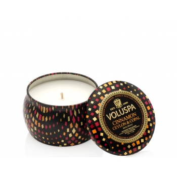 Voluspa Holiday Mini Decorative Tin Candle
