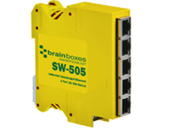 Brainboxes Industrial Unmanage Unmanaged network switch SW-505