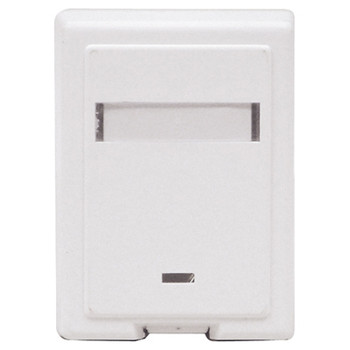 White Single M245 Surface Outlet.  Blister