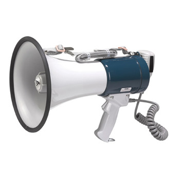 35 W Professional Megaphone with Pistol Grip and Fist Microphone