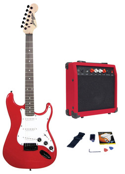 Johnny Brook Standard Guitar Kit with 20W Colour Coded Combo Amplifier [JB404]