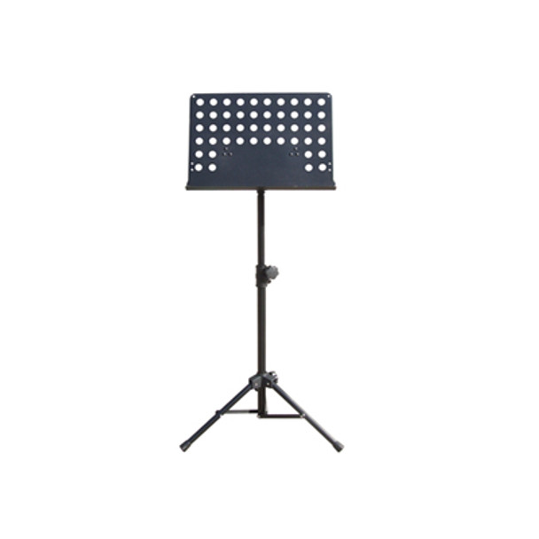 Black Perforated Sheet Music Stand with Height and Angle Adjustment