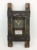 Twin Stave Wall Clock w/ Tweed | C01