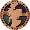 Scotland Map Round Coaster | LCR05