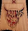 Highland Coo Kilt Coaster | LCR08