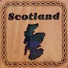 Scotland Map Square Coaster | LCR16