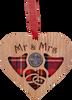Wedding Heart Lucky Sixpence