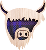 Highland Coo Brooch | LB06
